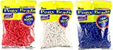 Darice 06121-2-02  Pony Beads, 9mm, 1000 Count, Combo Pack