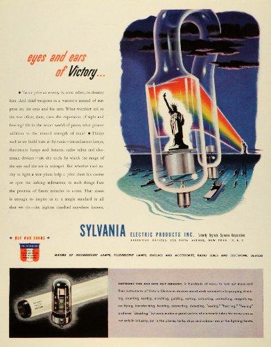 1943 Ad Sylvania Electriconics Radio Tubes Fluorescent Lamps Lighting Fixtures - Original Print Ad from PeriodPaper LLC-Collectible Original Print Archive