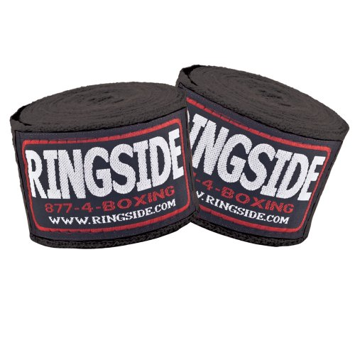 Ringside Cotton Standard Boxing Handwraps (Black)