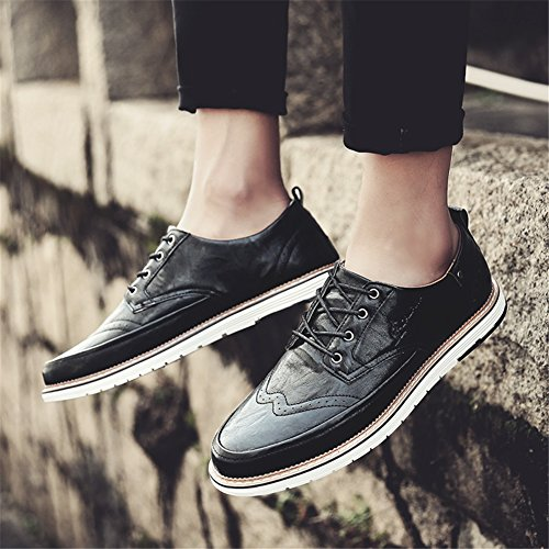 Pure lavoro Business Traspirante Business formale uomo Shoe XUE Bianco PU C da Lace Scarpe Pure Brown Grey Estate Pure up Primavera Casual leggero Scarpe Black 68qUY8p