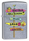 Zippo Custom Lighter: Hawaii Beach Signs - Street Chrome 78624