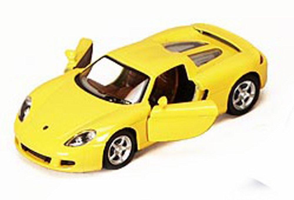 Porsche Carrera GT Yellow Kinsmart 5081D 1 36 scale Diecast Model Toy Car Brand New but NO BOX