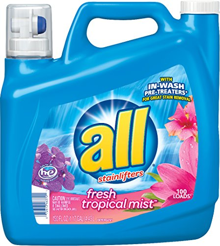 All Liquid Laundry Detergent, Fresh Tropical Mist, 150 oz