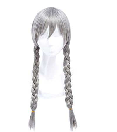 Miss U Hair High Temperature Fiber Half Black Half Blonde White Hair Medium Kinky Straight Cosplay Costume Party Wig For Women Synthetic None-lacewigs Hair Extensions & Wigs