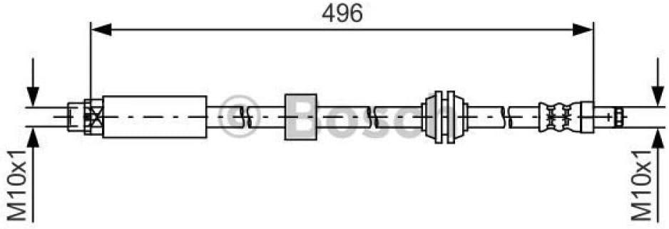 1 987 481 590 Bosch Bremsschlauch/