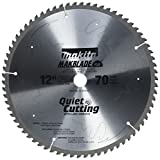 Makita A-94443 MakBlade Plus 12-Inch 70 Tooth ATB Quiet Cutting Miter Saw Blade with 1-Inch Arbor
