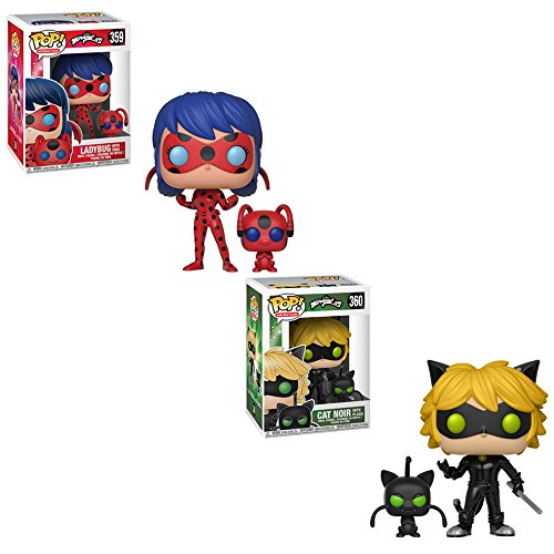 Funko POP! Animation Miraculous: Ladybug with Tikki and Cat