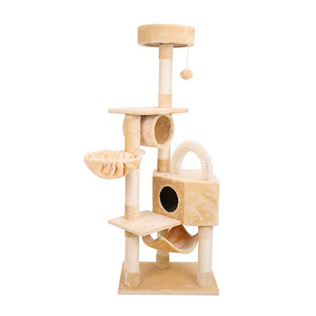 Beige 6040167cm Beige 6040167cm Dogs Beds Furniture Bed Blankets Cat Tree Apartment Building cat Climbing Center Game Room Multi-Storey cat Tower cat Tree Bed Room (color   Beige, Size   60  40  167cm)