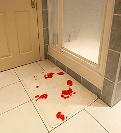 Enllo® Bloody Bath Shower Curtain+blood Bath Mat, Blood Bath Suit!:  Amazon.co.uk: Kitchen U0026 Home