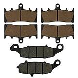 AHL Brake Pads Set for Kawasaki VN1500 Vulcan Mean Streak P1/P2 2002-2004 (Semi-metallic)