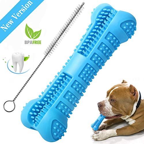 Chooseen Dog Toothbrush Stick Upgraded Dog Chew Toys Bone Bite Resistant Dental Care Effective Teeth Cleaning Blue for…