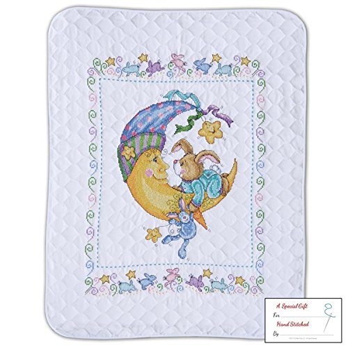 Tobin - Bunny Baby Quilt - Stamped Cross Stitch Kit T21761 - 34 by 43 inches - with Gift Card
