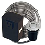 Westbrass Disposal Air Switch and Single Outlet Control Box, Stainless Steel, ASB-20