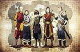 Tomorrow sunny 24X36 INCH / ART SILK POSTER / ken 012 Avatar The Last Airbender - Aang Fight Japan Anime
