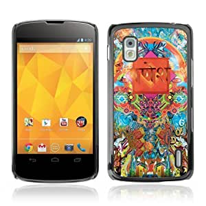 YOYOSHOP [Cool Psychedelic Pattern Illustration] LG Google Nexus 4 Case