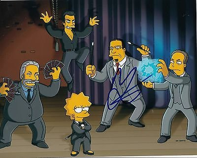 Penn Jillette signed The Simpsons 8x10 photograph w/coa Penn & Teller #1