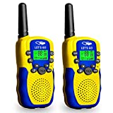 Toys for 3-12 Year Old Boys Girls Kids, TOP Toy Walkie Talkies for Kids Gifts Present for 3-12 Year Old Boys Girls Kids Outdoor Games for 3-12 Year Old Boys Girls Toys Age 3-12 Yellow Blue HL011