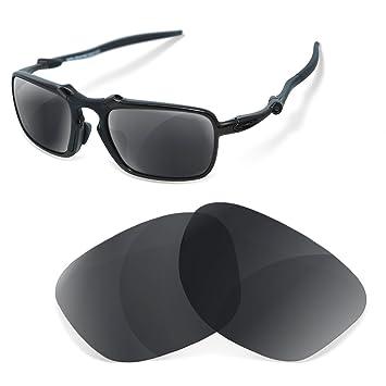 Lentes de Recambio Polarizadas Black Iridium para Oakley Badman: Amazon.es: Deportes y aire libre