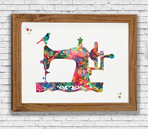 Sewing Machine Watercolor Art Print Craft Room Decor Seamstress Wall Decor Sewing Room Artworks Wall Art Home Decor Wall Hanging Gift For Sewer from Poster Soul