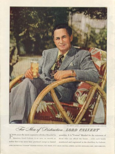 Director Mervyn Leroy for Lord Calvert whiskey ad 1946 ()