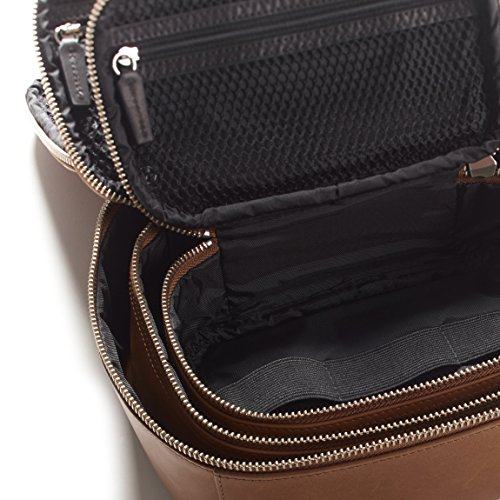 Leatherology Nested Travel Organizer Trio - Full Grain German Leather Leather - Dark Caramel (brown) by Leatherology (Image #1)