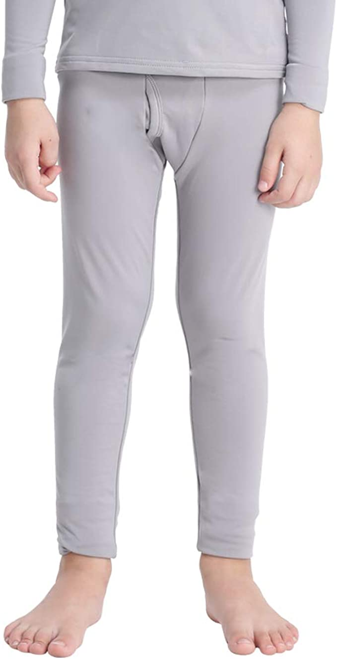 Amazon Com Mancyfit Pantalones Termicos Para Ninos Con Forro Polar Clothing