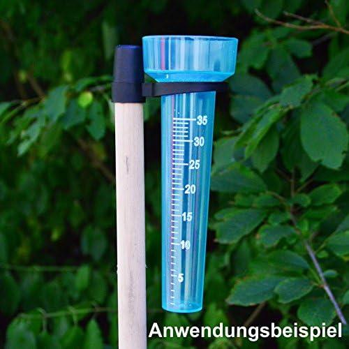 Pluviómetro 23 cm Plástico transparente soporte Pluviómetro Jardín requisitos: Amazon.es: Jardín