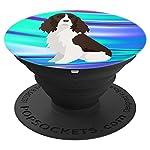 English Springer Spaniel Dog Pop Socket Phone Holder Blue 6