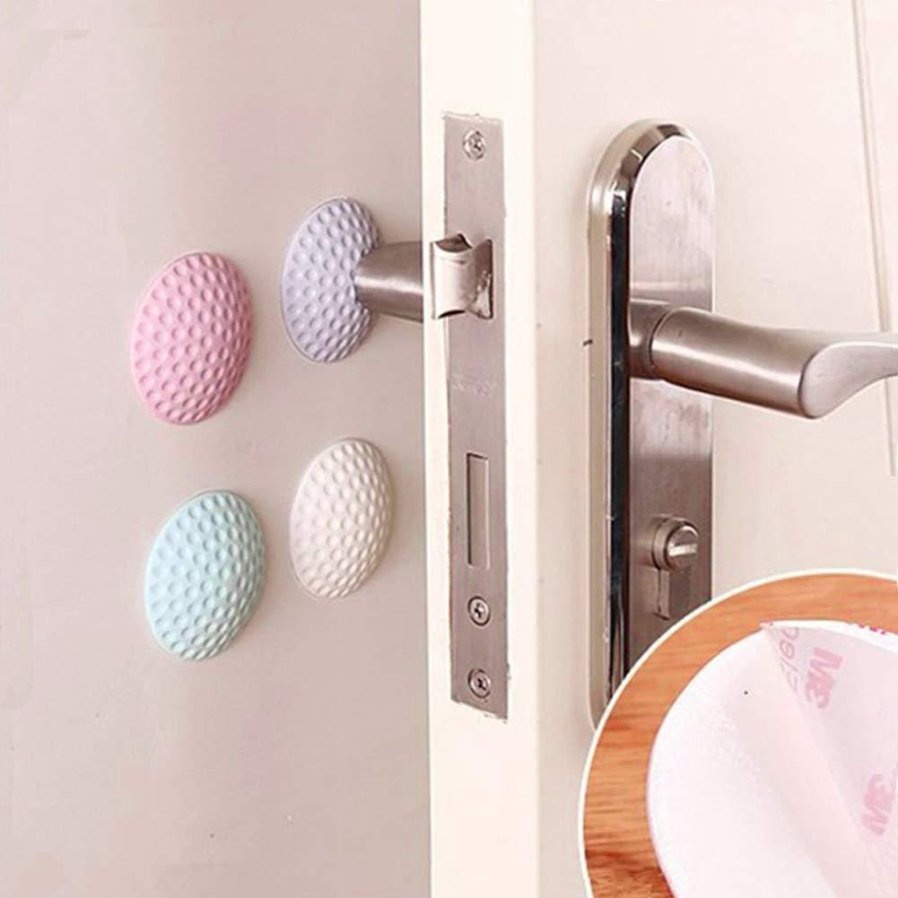 6 pcs 2 Door Stoppers Hemispherical Adhesive Rubber Doorstop Wall Protector Door Knob Wall Shield Door Handle Bumper Guard