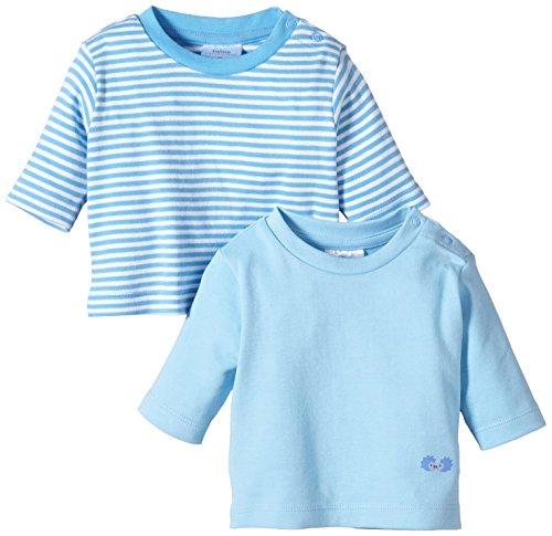 Twins Baby - Jungen Langarmshirt im 2er Pack, Mehrfarbig, Gr. 92, blau (baby blue)