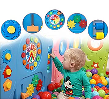 Amazon Com Globalskyllc Colorful Baby Playpen 14 Panel Kids