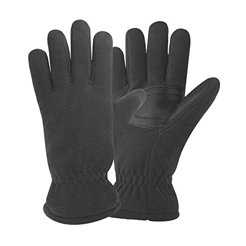 Igloos Men's Insulated Waterproof Fleece Gloves, Anthracite, (Fleece Mens Glove)