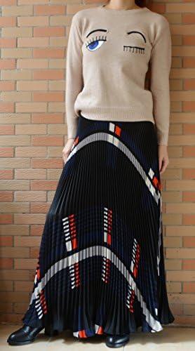 Bohemian Chiffon 360 Sunray Pleated Full Skirts YSJ Womens Plaid Long Maxi Skirt