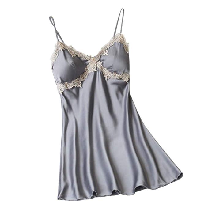 df4510dcacedc8 Amphia - Reizvolle Tiefe v Hosenträgerpyjamas reizvolle Wäsche,Frauenmode  Nachtwäsche Dessous Spitze Versuchung Unterwäsche Nachthemd