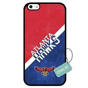 Onelee(TM) - Customized NBA Atlanta Hawks Team Logo Design TPU Apple iPhone 6 Case Cover - Black 01