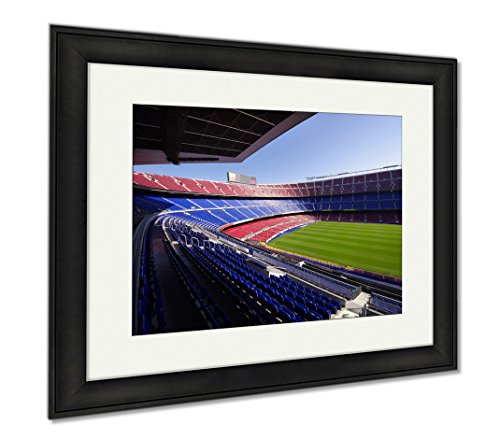 Ashley Framed Prints Wide View Of Fc Barcelona Nou Camp Soccer Stadium, Wall Art Home Decoration, Color, 26x30 (frame size), Black Frame, AG5599282 by Ashley Framed Prints