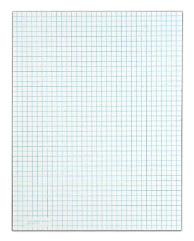 TOPS Quadrille Pad, 8.5 x 11 Inches, 15 Pound Stock, 50 Sheets per Pad, 6 Pads per Pack, White - Graph Pad