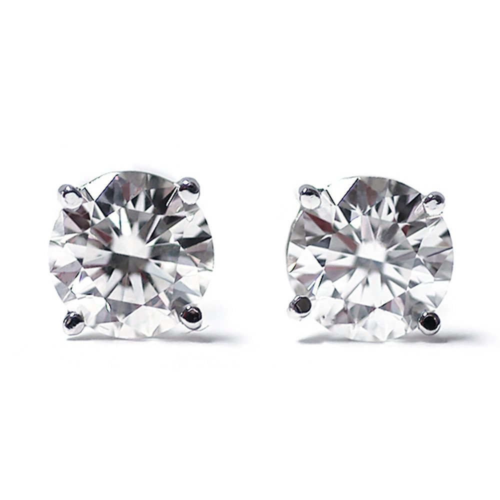 1/3 cttw Round Cut 14K White Gold White Diamond Stud Earrings