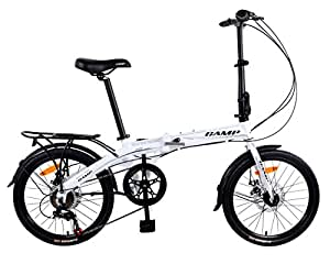 "Camp 20"" Folding Bike Shimano 7 Speed,Super Sonic"