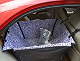 EDEALYN Folding Waterproof Car Rear Back Seat Cushion Hanging Protector Pet Dog Cat Safe Travel Carrier Pet Dog House Hammock Mat Blanket Mat Cover (Purple)