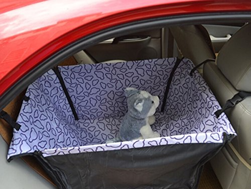 EDEALYN Folding Waterproof Car Rear Back Seat Cushion Hanging Protector Pet Dog Cat Safe Travel Carrier Pet Dog House Hammock Mat Blanket Mat Cover (Purple) Review