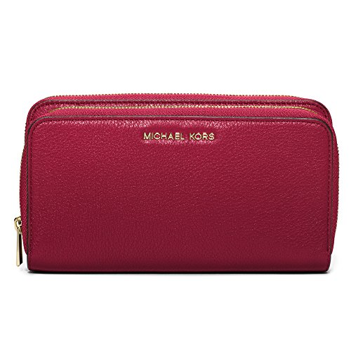MICHAEL Michael Kors Adele Double-Zip Wallet (Cherry) by Michael Kors