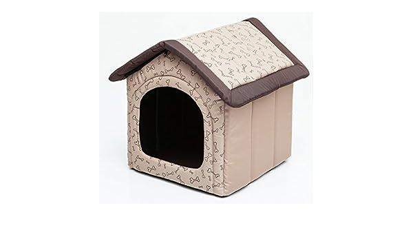 budbko17 para perros Gato Cueva Perros Gato cama Perros Casa Dormir Espacio para perros perro casa Caseta de S XL, amarillento con el modelo R3 (52 x 46 ...