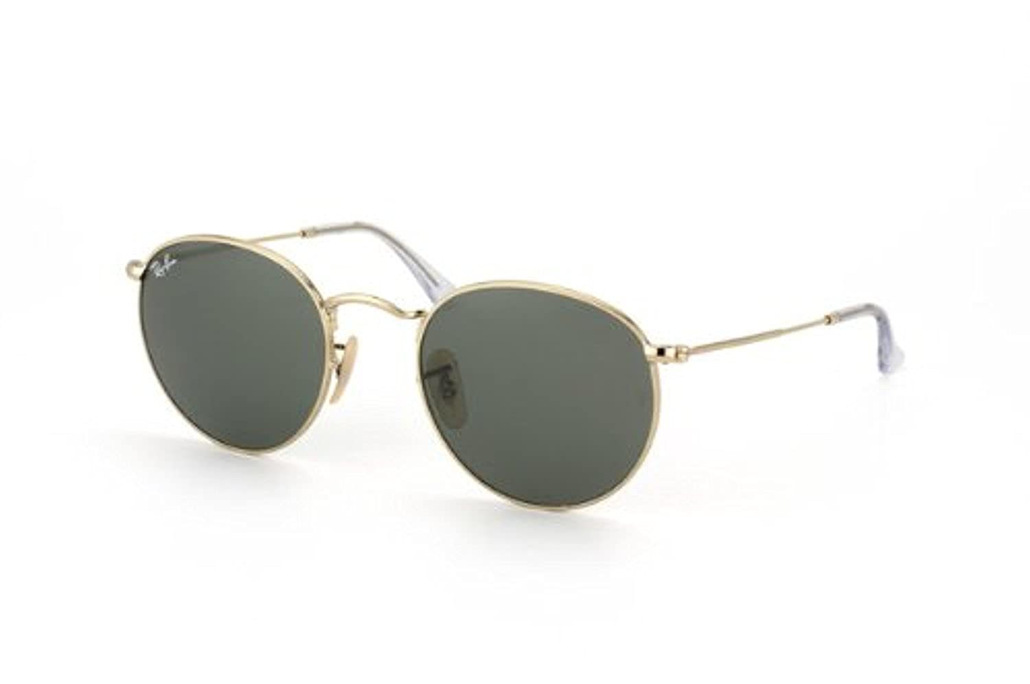 RB RB3447 Round Metal Sunglasses Arista//Crystal Green 47mm /& Care Kit