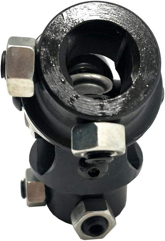 Surla New Black Universal Steering U Joint Hot Rat Street Rod 3//4 DD x 3//4 DD