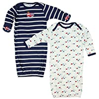 Gerber Baby Boys Lap Shoulder Gowns, 2 Pack, Firetruck 0-6M