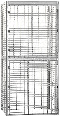 Salsbury Industries Bulk Storage Locker Double Tier Starter, 48-Inch, 36-Inch