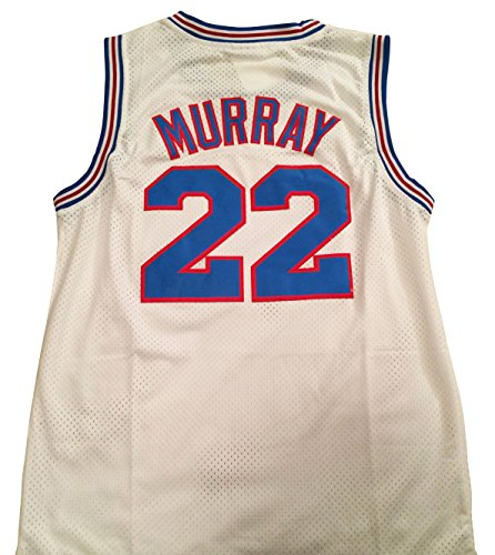 (Bill Murray Space Jam Jersey - #22 Tune Squad - White (Large))