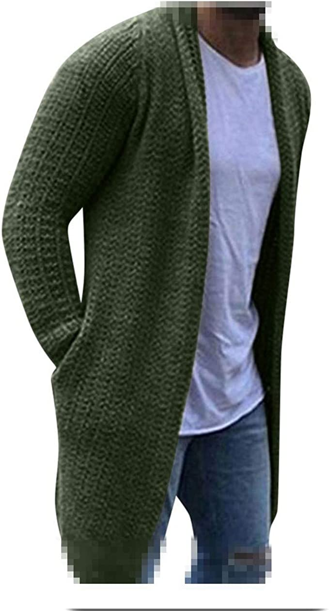 Mens Cardigan Sweaters Long Sleeve Knit Open Front Cardigans