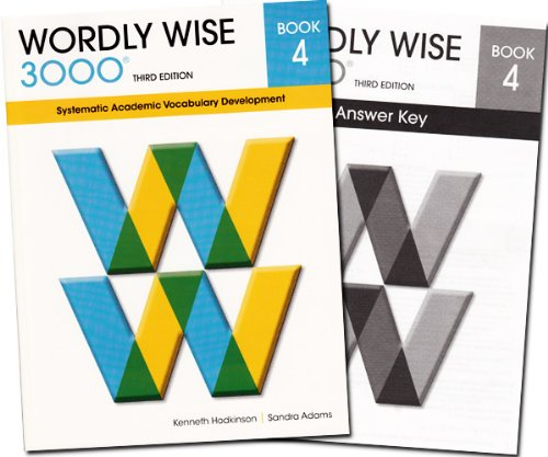 Wordly Wise 3000 Grade 4 SET -- Student and Answer Key (Systematic Academic Vocabulary Development)